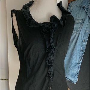 Designer Sunny Leigh cotton&silk Ruffle Top xl